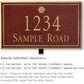 Salsbury 1410MGSL Signature Series Address Plaque