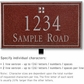 Salsbury 1410MSGL Signature Series Address Plaque
