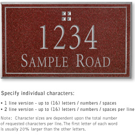 Salsbury 1410MSGS Signature Series Address Plaque