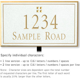 Salsbury 1410WGGL Signature Series Address Plaque