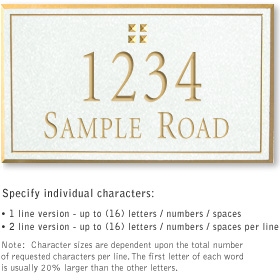 Salsbury 1410WGGS Signature Series Address Plaque