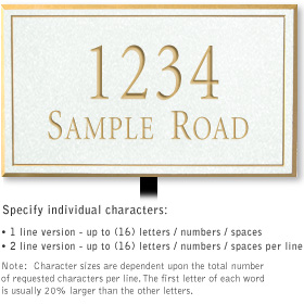Salsbury 1410WGNL Signature Series Address Plaque