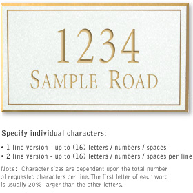 Salsbury 1410WGNS Signature Series Address Plaque