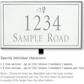 Salsbury 1410WSDL Signature Series Address Plaque