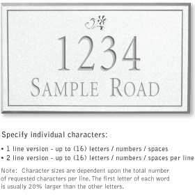 Salsbury 1410WSDS Signature Series Address Plaque