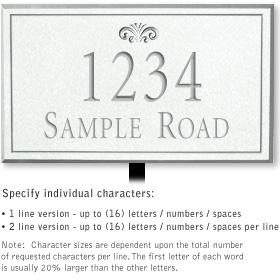 Salsbury 1410WSFL Signature Series Address Plaque
