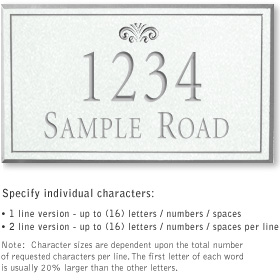 Salsbury 1410WSFS Signature Series Address Plaque