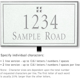 Salsbury 1410WSGL Signature Series Address Plaque