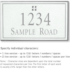 Salsbury 1410WSGS Signature Series Address Plaque