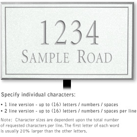 Salsbury 1410WSNL Signature Series Address Plaque