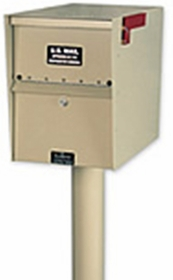 SINGLE Locking Curbside KIT Basic In-Ground w Cover - Geneva & Oasis Jr. Only (Mailboxes purchased separately)
