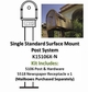 Single Post Mount System Standard Surface Mount with Newspaper Receptacle (Mailboxes purchased separately)