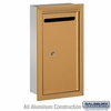 Salsbury 2265BP Slim Letter Box - Recessed Mounted - Brass - Private Access