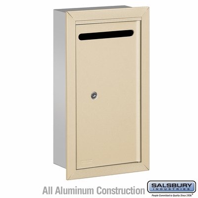 Salsbury 2265SP Slim Letter Box - Recessed Mounted - Sandstone - Private Access