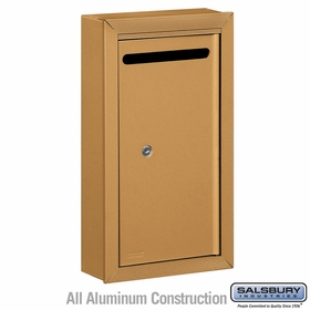 Salsbury 2260BP Slim Letter Box - Surface Mounted - Brass - Private Access