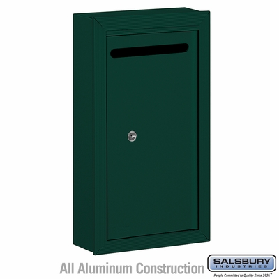 Salsbury 2260GP Slim Letter Box - Surface Mounted - Green - Private Access