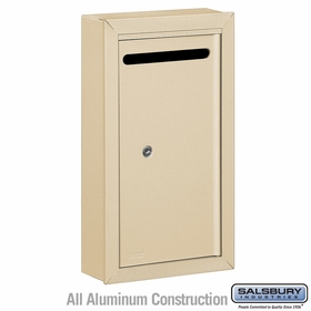 Salsbury 2260SP Slim Letter Box - Surface Mounted - Sandstone - Private Access