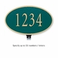 Salsbury 1330GGL Cast Aluminum Address Plaque