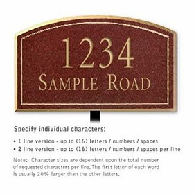 Salsbury 1420MGNL Signature Series Address Plaque