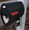 Spira Unique Post Mount Mailbox - Black