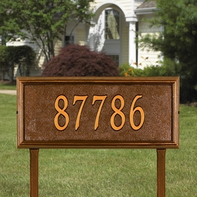 Whitehall Springfield Rectangle - Estate Lawn Address Sign - One Line