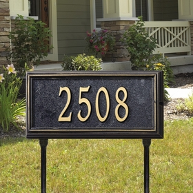 Whitehall Springfield Rectangle - Standard Lawn Address Sign - One Line