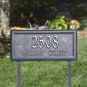 Whitehall Springfield Rectangle - Standard Lawn Address Sign - Two Line