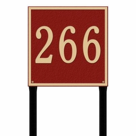 Square Estate One Line Lawn Address Sign