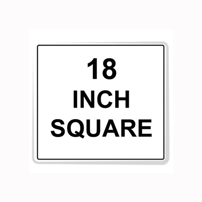 Square Sign Reflective Faceplate 18""