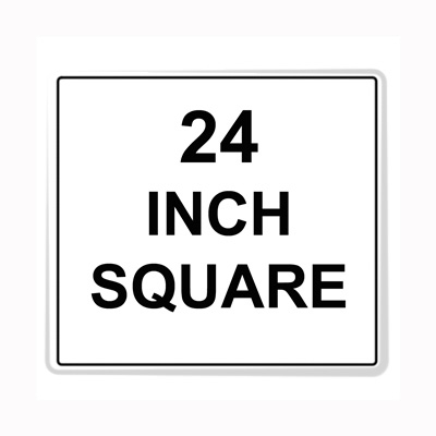 Square Sign Reflective Faceplate 24""