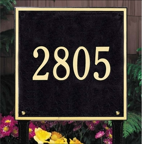 Whitehall Square Standard One Line Lawn Address Sign