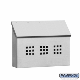Salsbury 4515 Stainless Steel Mailbox Decorative Horizontal Style