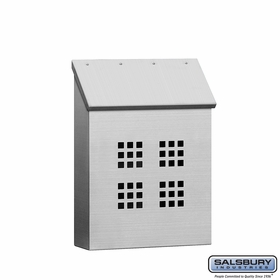 Salsbury 4525 Stainless Steel Mailbox Decorative Vertical Style