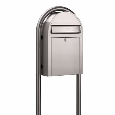 USPS Bobi Classic Stainless Steel Front Access Mailbox (Post Sold Separately)