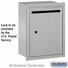 Salsbury 2245AU Standard Letter Box - Recessed Mounted Aluminum Finish USPS Access