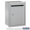 Salsbury 2245AP Standard Letter Box - Recessed Mounted - Aluminum - Private Access