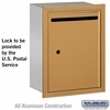 Salsbury 2245BU Standard Letter Box - Recessed Mounted Brass Finish USPS Access