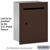 Salsbury 2245ZU Standard Letter Box - Recessed Mounted Bronze Finish USPS Access