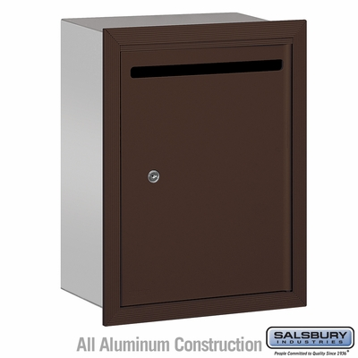 Salsbury 2245ZP Standard Letter Box - Recessed Mounted - Bronze - Private Access