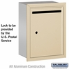 Salsbury 2245SU Standard Letter Box - Recessed Mounted Sandstone USPS Access