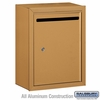 Salsbury 2240BP Standard Letter Box - Surface Mounted - Brass - Private Access
