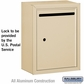 Salsbury 2240SU Standard Letter Box - Surface Mounted Sandstone USPS Access