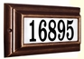 Edgewood Standard Lighted Address Plaque with Cast Aluminum Numbers - Antique Copper Frame
