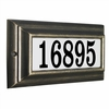 Standard Lighted Address Oil Rubbed Bronze Frame