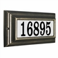 Edgewood Standard Lighted Address Plaque with Cast Aluminum Numbers - Oil Rubbed Bronze Frame