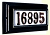 STANDARD Lighted Address Plaque Black Frame