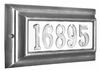 STANDARD Lighted Address Plaque Pewter Frame