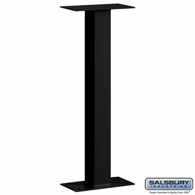 Salsbury 4865BLK Standard Mailbox Post Bolt Mounted Black