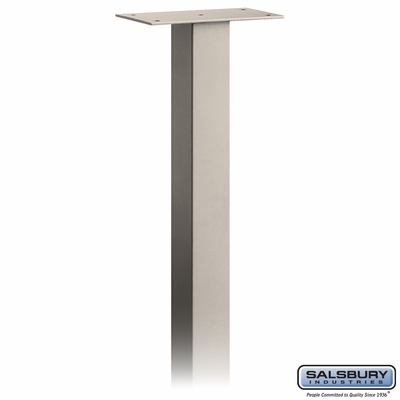 Salsbury 4895BGE Standard Mailbox Post In Ground Mounted Beige