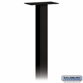 Salsbury 4895BLK Standard Mailbox Post In Ground Mounted Black